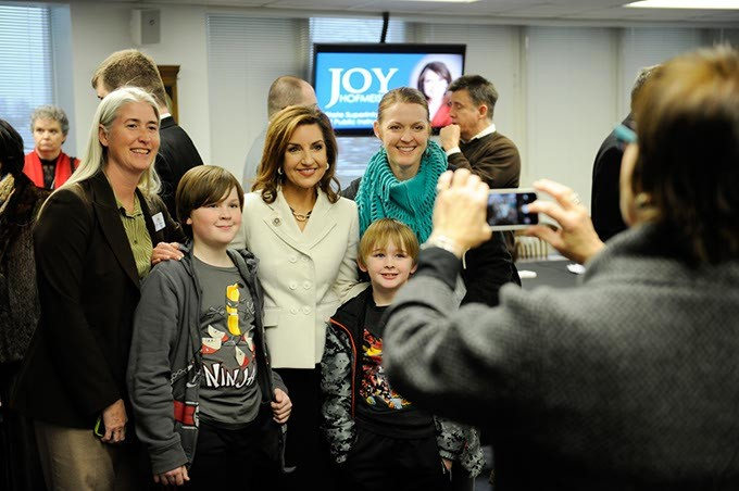 Joy Hofmeister poses for a photo at the State Department of Education in Oklahoma City, Monday, Jan. 12, 2015. - GARETT FISBECK