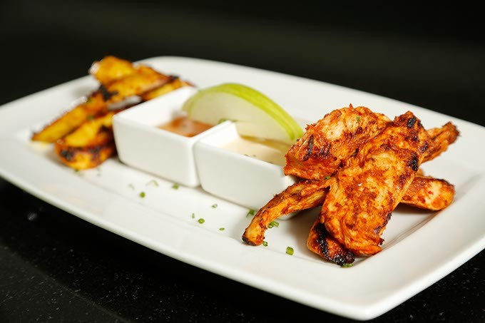 Curried chicken at The George Prime Steakhouse. (Garett Fisbeck)