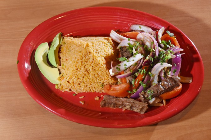 Lomo saltado, at Hidalgo's Cocina & Cantina in Edmond, Oklahoma, 1-19-16. - MARK HANCOCK