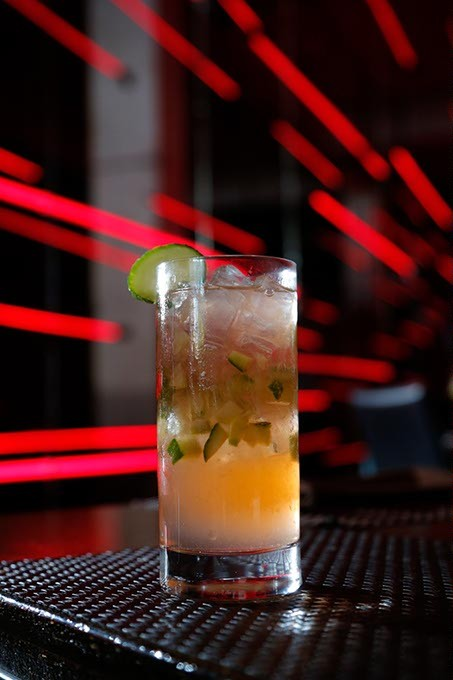 Cucumber Cooler at Red Prime Steakhouse in Oklahoma City, Monday, April 20, 2015. - GARETT FISBECK