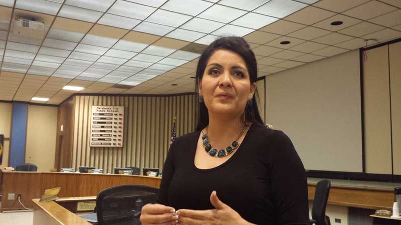 Gloria Torres was appointed to the OKC school board on Monday night.