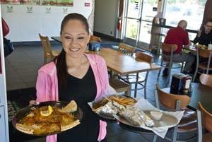 Karen Villareal delivers at Basil Mediterranean Cafe, 211 N.W. 23rd Street in OKC.  mh
