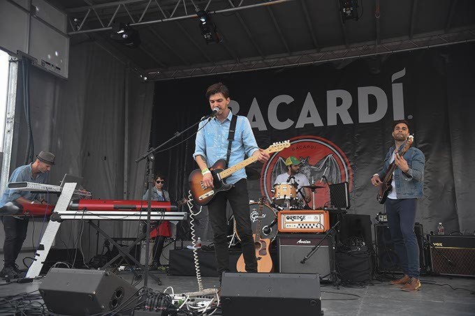 Chac Kervy Band on The Bacardi Stage. - MARK HANCOCK