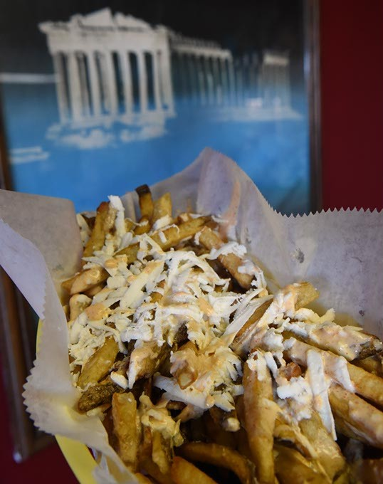 Bomber Fries at Akropolis, 1809 S. Air Depot in Midwest City, Oklahoma, 12-16-15. - MARK HANCOCK