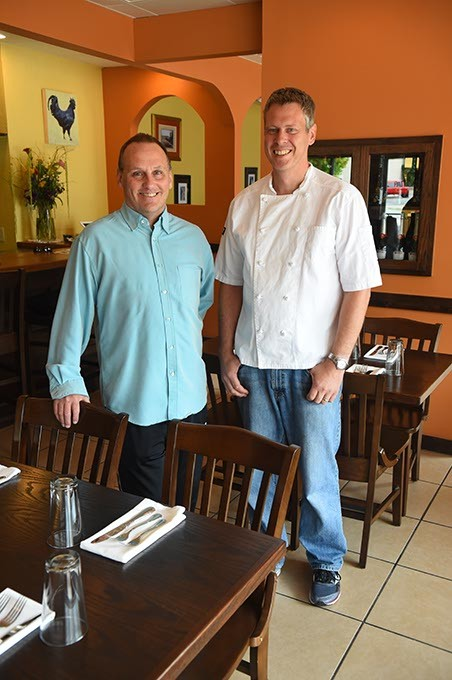 From left, Brian Cure, GM, and Robert DeCost, owner and chef, at the now open, Patrono Italian Restaurant, 305 N. Walker Avenue, in downtown OKC.  mh