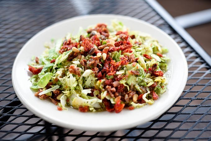 Brussels Sprouts salad at The Wedge, Friday, March 18, 2016. - GARETT FISBECK
