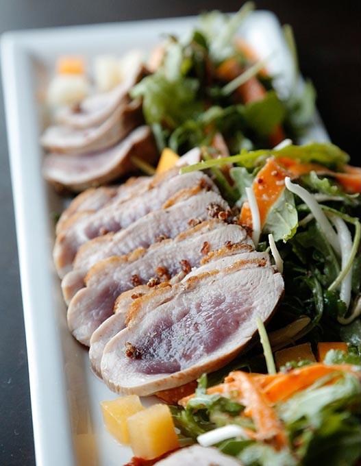 Duck Salad at Covell Park in Edmond, Thursday, May 14, 2015. - GARETT FISBECK