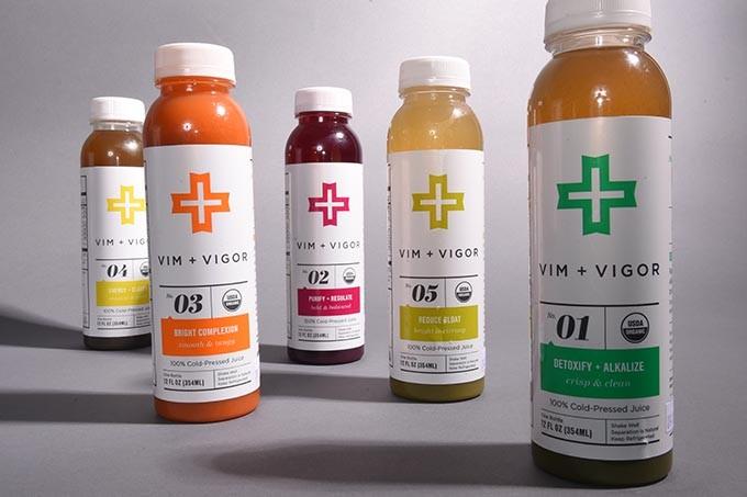 Vim + Vigor cleansing drinks.  mh