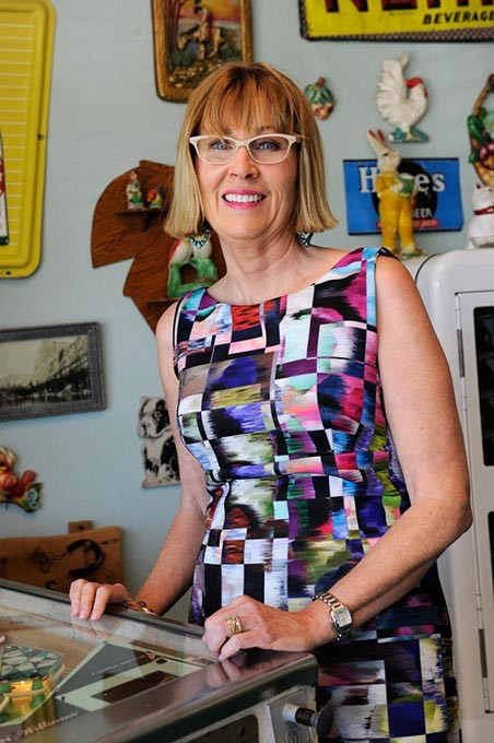 Leslie Blair poses for a photo at her business in Oklahoma City, Wednesday, June 10, 2015. - GARETT FISBECK