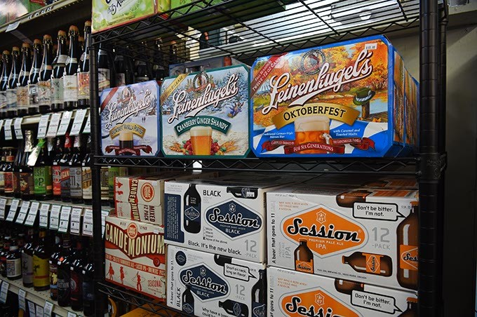 Octoberfest and other beers for Fall at Freeman's Liquor Mart on N. Western Avenue, 9-25-15. - MARK HANCOCK
