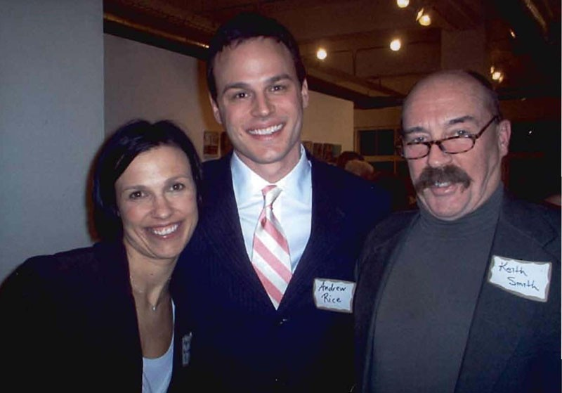 Keith Smith, a lobbyist and LGBT advocate, passed away in 2006. He is pictured with former state senator Andrew Rice and his wife, Apple, in 2006. PROVIDED