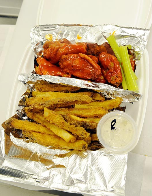 Mild wings and fries at Wings and Things in Yukon, Thursday, Nov. 5, 2015. - GARETT FISBECK