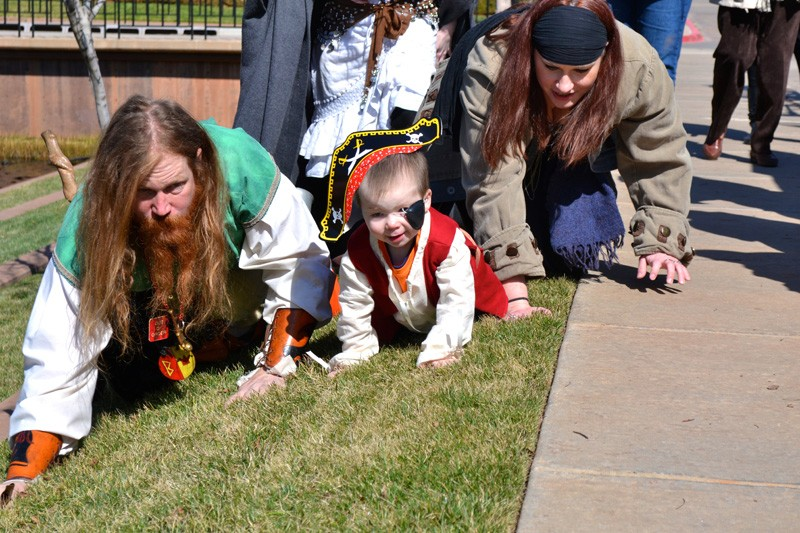 The Oklahoma Make-A-Wish Foundation made it possible for Pierson to recieve his wish of being a pirate. - PROVIDED