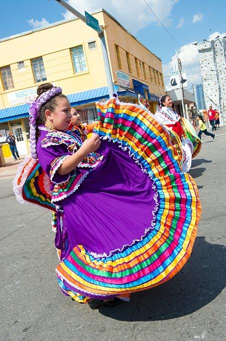 Priscilla Wheeler is a Yumare Mexican Folkloric dancer during the Fiesta de Las Americas. - SHANNON CORNMAN