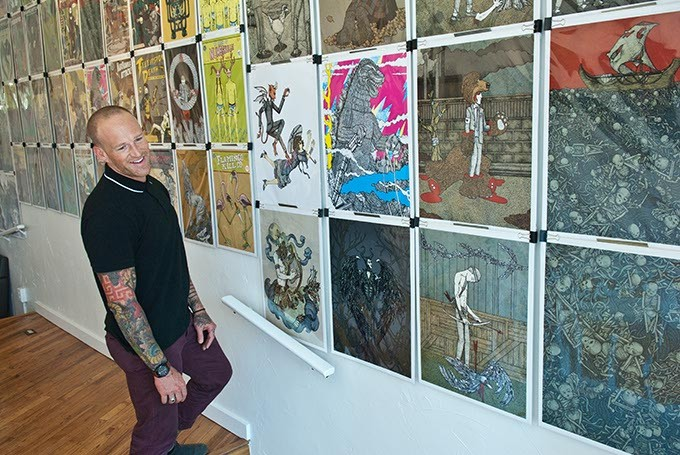 Dustin Oswald, a.k.a. Dorshak Bloch in his new space, Planet Dorshak (Mark Hancock)
