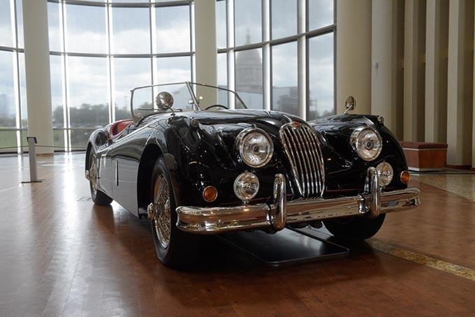 1955 Jaguar XK 140 MC at The Art of Speed exhibit at the Oklahoma History Center, Wednesday, July 5, 2017. - GARETT FISBECK