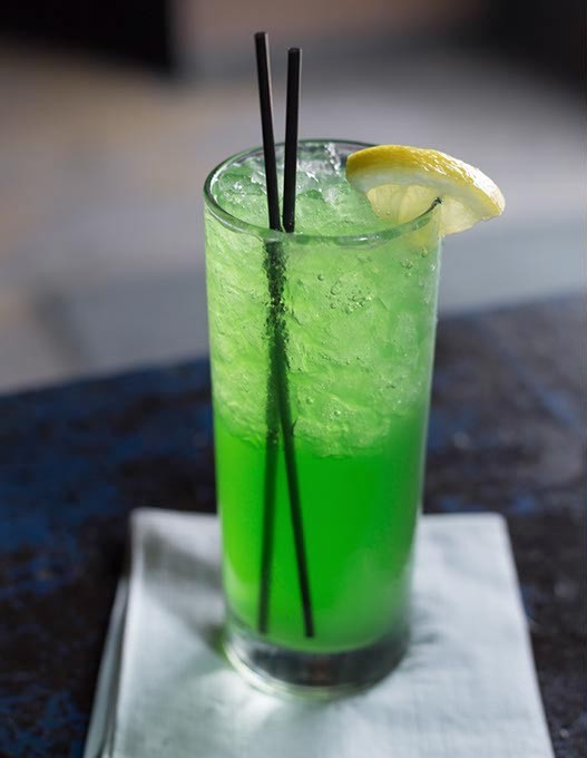 Liquid Marijuana cocktail is served at Tramps Bar in Oklahoma City, Monday, June 13, 2016. - EMMY VERDIN