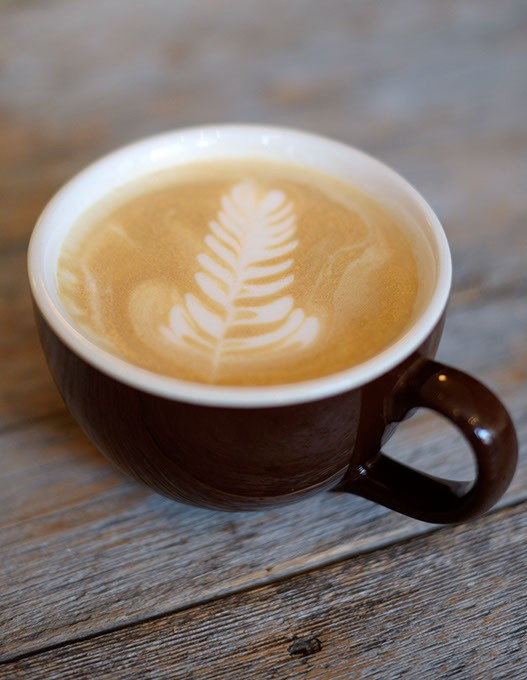 Latte at Rick's Fine Chocolates and Coffee in Guthrie, Tuesday, May 9, 2017. - GARETT FISBECK