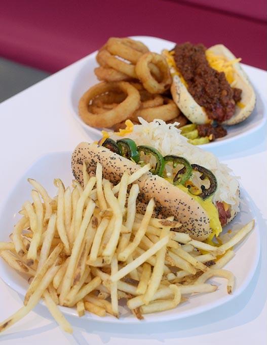 Ripper dog and chili cheese dog at Pop's in Nichols Hills, Wednesday, June 28, 2017. - GARETT FISBECK