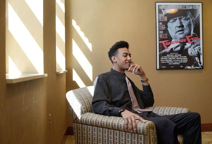 Rapper Mike Turner during an interview at the Oklahoma City Museum of Art, Monday, March 20, 2017. - GARETT FISBECK