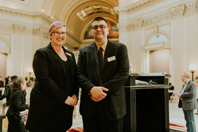 Anna Facci and Adam Soltani at the Oklahoma State Capitol on Muslim Day at the Capitol on March 2. | Photo Provided - QAZI ISLAM