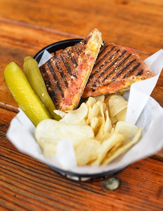 Grilled cheese panini at Power House in Oklahoma City, Wednesday, April 13, 2016. - GARETT FISBECK