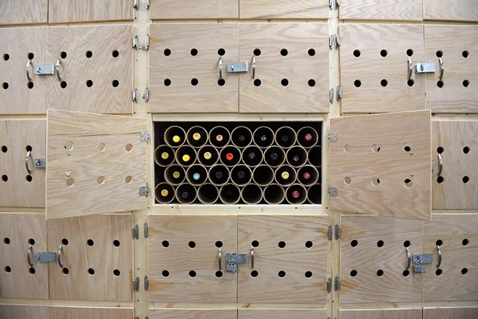 Wine locker at the OKC Cellar, Monday, June 6, 2016. - GARETT FISBECK