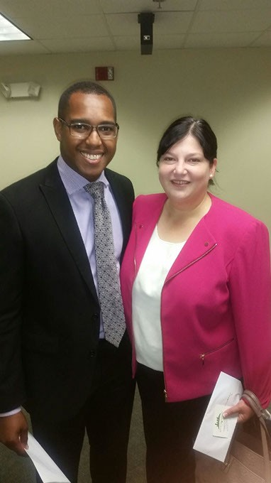 Eran Harrill and Oklahoma City Public Schools Superintendent Aurora Lora at a Black Chamber of Commerce Metro Oklahoma City event   Photo provided