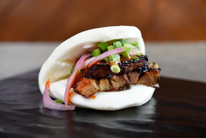 Pork Belly Bun at Chae Modern Korean, Wednesday, May 11, 2016. - GARETT FISBECK