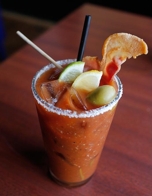Bacon Bloody Mary at Bacon, Tuesday, Oct. 3, 2017. - GARETT FISBECK