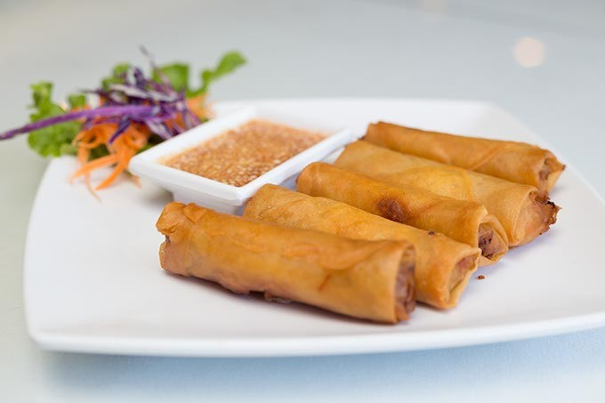 Thai House serves Thai fried spring rolls on Monday June 27, 2016 in Oklahoma City. - EMMY VERDIN