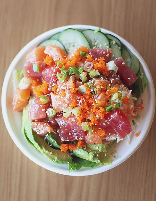 The Poke bowl at the One Cafe in Edmond, Okla. (Cara Johnson).