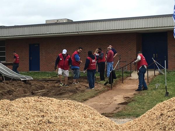 Volunteers in Lowe's Heroes program helped renovate Telstar Elementary School. | Photo Boys & Girls Clubs of Oklahoma County / provided