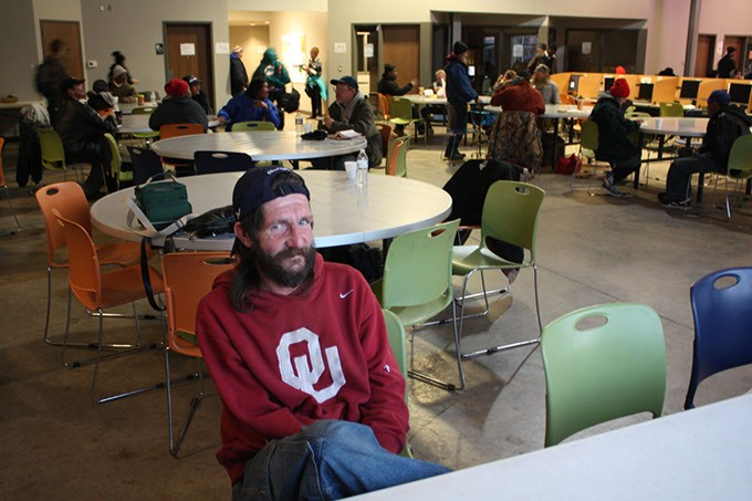 Vincent Jameson, a frequent visitor to Oklahoma City's WestTown Homeless Resource Campus became homeless a year ago after an injury prevented him from working. (Laura Eastes)