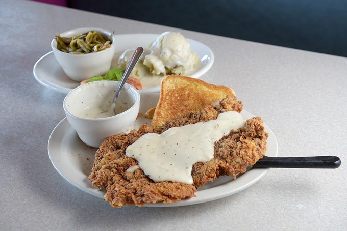 Chicken Fried Steak at Stevie's Cafe, Tuesday, Aug. 16, 2016. - GARETT FISBECK