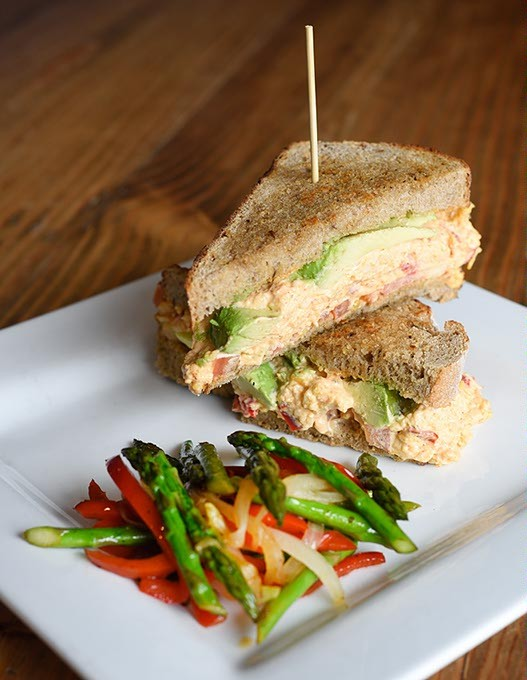 Grilled pimento cheese sandwich at Picasso Cafe in Oklahoma City, Wednesday, April 13, 2016. - GARETT FISBECK