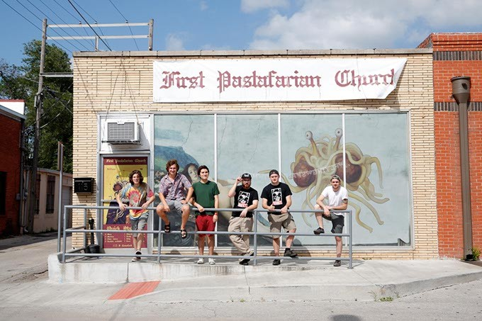 First pastafarian church preaches a do it yourself art ethic music click to enlarge the crew at the first pastafarian church in norman wednesday june 15 solutioingenieria Choice Image