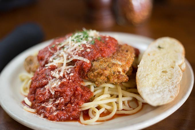 Gaberino's Italian Restaurant serves Chicken parmesan on Wednesday, August  31, 2016 in Oklahoma City, OK. - EMMY VERDIN
