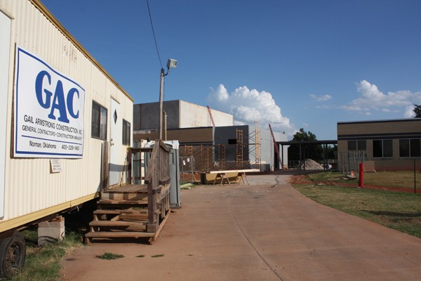 The Village's Ridgeview Elementary School undergoes a gymnasium - addition as part of the 2007 Oklahoma City Public Schools bond package. Ridgeview is one of 78 building sites that would benefit from the proposed bond issues on the November ballot. | Photo Laura Eastes