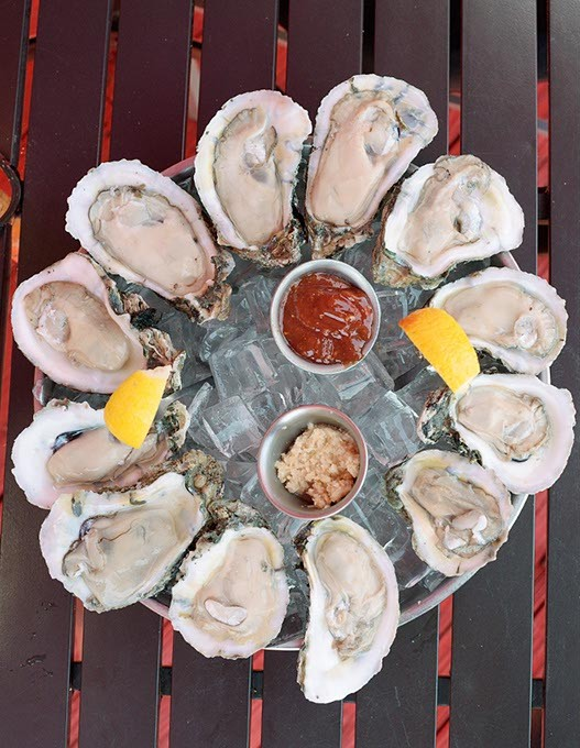 Oysters on the half shell at The Shack, Monday, May 15, 2017. - GARETT FISBECK