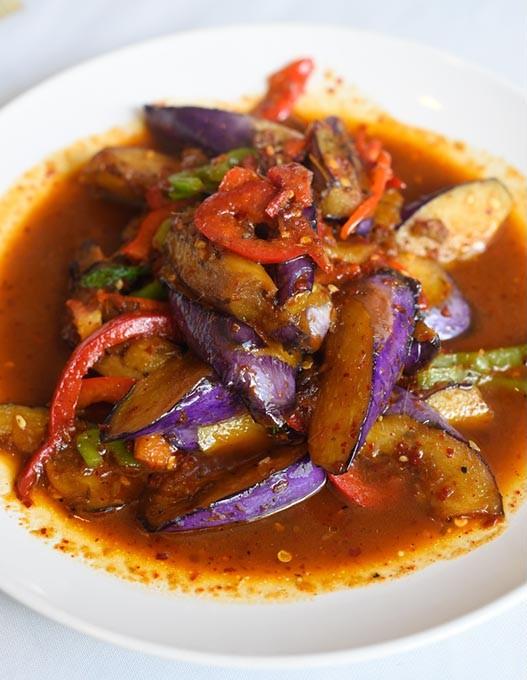 Spicy Eggplant at Thai House in Oklahoma City, Thursday, April 21, 2016. - GARETT FISBECK