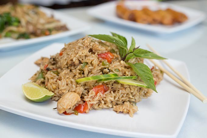 Thai House serves Kao Pad Kra Pao-Sicy basil fried rice on Monday, June 27, 2016 in Oklahoma City. - EMMY VERDIN