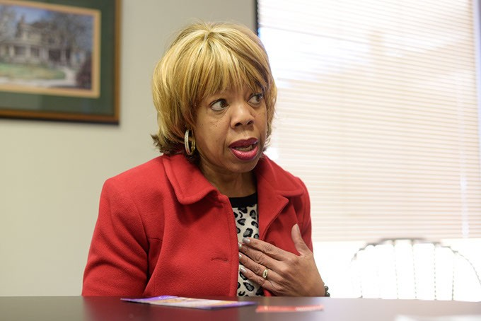 Kitty Asberry, director of Oklahoma Commission on the Status of Women, at the Oklahoma Gazette offices, Monday, Dec. 19, 2016. - GARETT FISBECK