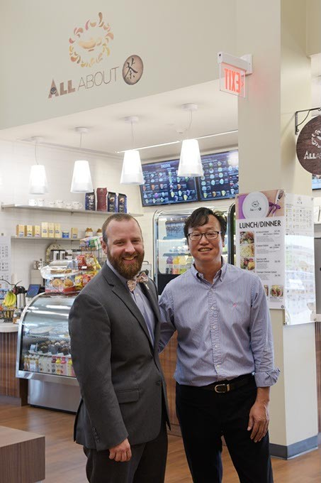 Jefferson Killgore and Chang Yi at All About Cha at the MAPS 3 Senior Health and Wellness Center | Photo Garett Fisbeck