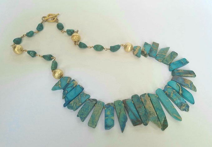 Whitney Ingram's beaded jewelry is on display at Studio Gallery through mid-November. (Provided)