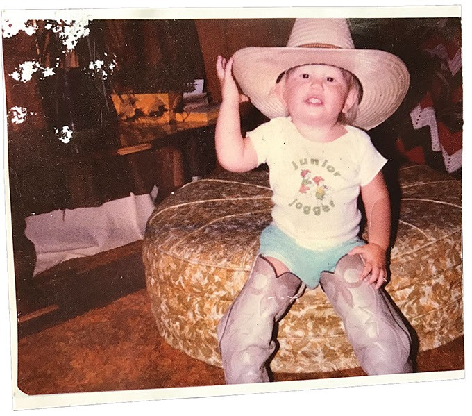 Songwriter and filmmaker Luke Dick at age 2. (Red Dog / provided)