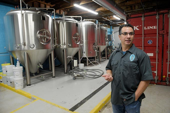 Brewmaster Bruce Sanchez gives a tour of Twisted Spike Brewing Company, Friday, Nov. 4, 2016. - GARETT FISBECK