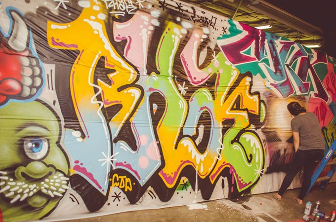Graffiti artists showed off their skills at last year's Oklahoma Hip-Hop Festival. | Photo Oklahoma Hip-Hop Festival / provided