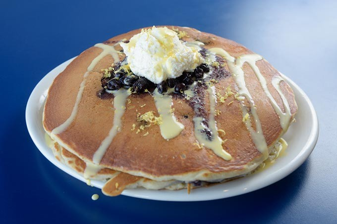 Blueberry pancakes at Sunnyside Diner, Tuesday, Jan. 17, 2017. - GARETT FISBECK