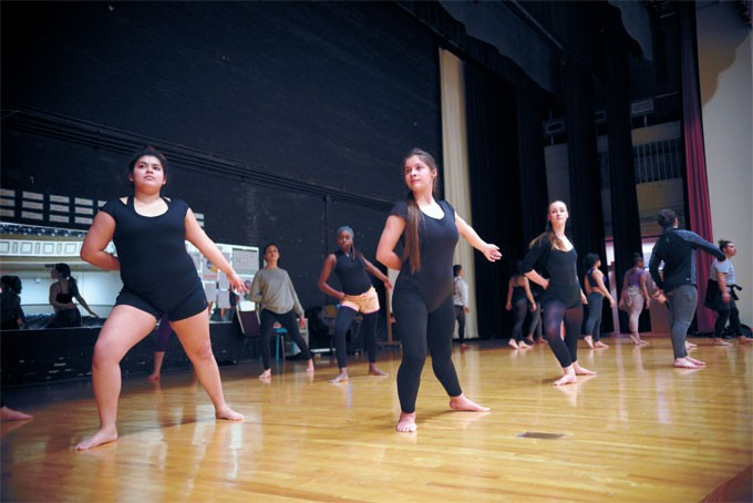 Students in Capitol Hill's Dance Diversity Company practice a piece for a spring contest. | Photo Laura Eastes